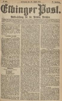 Elbinger Post, Nr.97 Mittwoch 26 April 1876, 3 Jh