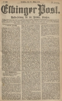 Elbinger Post, Nr.68 Dienstag 21 März 1876, 3 Jh