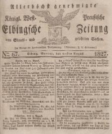 Elbingsche Zeitung, No. 67 Montag, 20 August 1827
