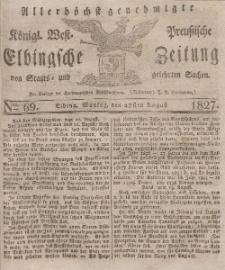 Elbingsche Zeitung, No. 69 Montag, 27 August 1827