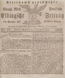 Elbingsche Zeitung, No. 71 Montag, 3 September 1827