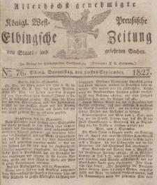 Elbingsche Zeitung, No. 76 Donnerstag, 20 September 1827