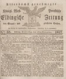 Elbingsche Zeitung, No. 88 Donnerstag, 1 November 1827