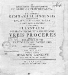 Actus encaeniorum Gymnasii Elbingensis auctoritate publica ...