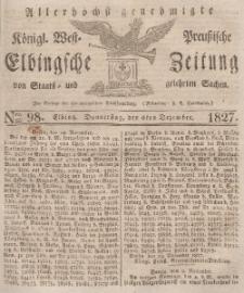 Elbingsche Zeitung, No. 98 Donnerstag, 6 Dezember 1827