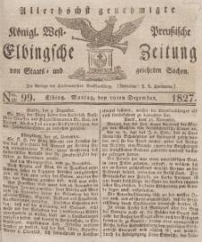 Elbingsche Zeitung, No. 99 Montag, 10 Dezember 1827