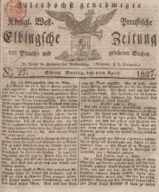 Elbingsche Zeitung, No. 27 Montag, 2 April 1827