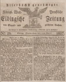 Elbingsche Zeitung, No. 28 Donnerstag, 5 April 1827