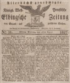 Elbingsche Zeitung, No. 31 Montag, 16 April 1827