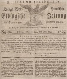 Elbingsche Zeitung, No. 36 Donnerstag, 3 Mai 1827