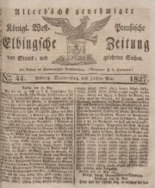 Elbingsche Zeitung, No. 44 Donnerstag, 31 Mai 1827