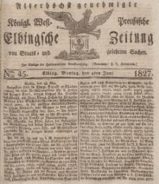 Elbingsche Zeitung, No. 45 Montag, 4 Juni 1827