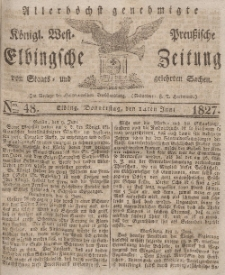 Elbingsche Zeitung, No. 48 Donnerstag, 14 Juni 1827
