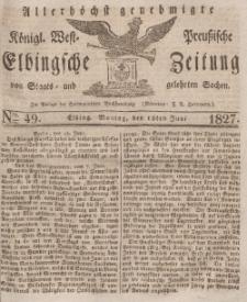 Elbingsche Zeitung, No. 49 Montag, 18 Juni 1827