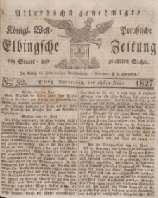 Elbingsche Zeitung, No. 52 Donnerstag, 28 Juni 1827