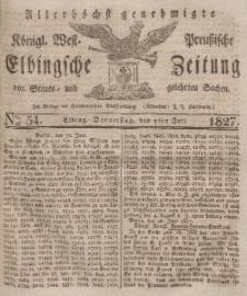 Elbingsche Zeitung, No. 54 Donnerstag, 5 Juli 1827