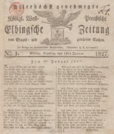 Elbingsche Zeitung, No. 1 Montag, 1 Januar 1827
