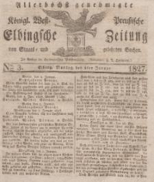 Elbingsche Zeitung, No. 3 Montag, 8 Januar 1827