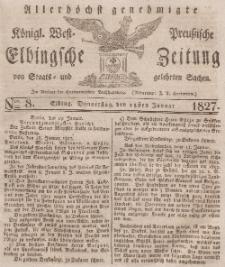 Elbingsche Zeitung, No. 8 Donnerstag, 25 Januar 1827