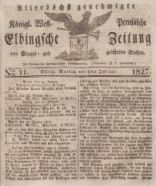 Elbingsche Zeitung, No. 11 Montag, 5 Februar 1827