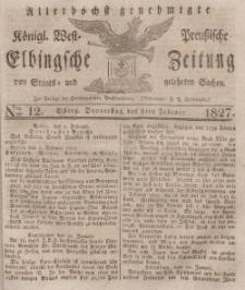 Elbingsche Zeitung, No. 12 Donnerstag, 8 Februar 1827