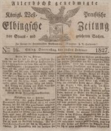 Elbingsche Zeitung, No. 16 Donnerstag, 22 Februar 1827