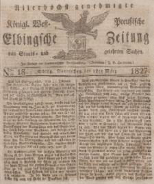Elbingsche Zeitung, No. 18 Donnerstag, 1 März 1827