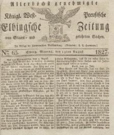 Elbingsche Zeitung, No. 65 Montag, 13 August 1827