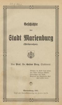 Geschichte der Stadt Marienburg (Westpreußen)