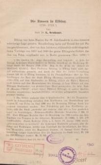 Die Russen in Elbing : 1710-1713