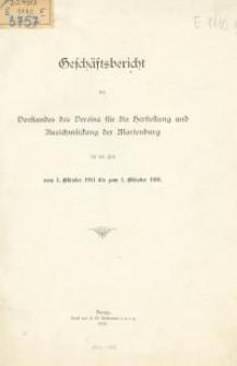 Geschäftsbericht des Vorstandes des Vereins für die Herstellung und Ausschmückung der Marienburg für die Zeit vom 1.Oktober 1916