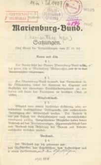 Marienburg-Bund. Satzungen