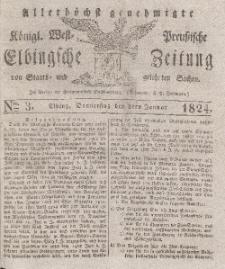 Elbingsche Zeitung, No. 3 Donnerstag, 8 Januar 1824