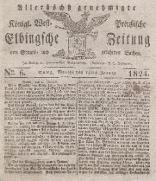Elbingsche Zeitung, No. 6 Montag, 19 Januar 1824