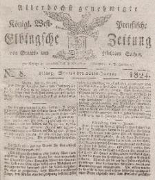 Elbingsche Zeitung, No. 8 Montag, 26 Januar 1824