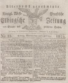 Elbingsche Zeitung, No. 12 Montag, 9 Februar 1824