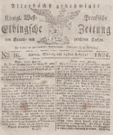Elbingsche Zeitung, No. 16 Montag, 23 Februar 1824