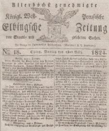 Elbingsche Zeitung, No. 18 Montag, 1 März 1824