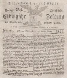 Elbingsche Zeitung, No. 21 Donnerstag, 11 März 1824