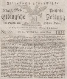 Elbingsche Zeitung, No. 22 Montag, 15 März 1824