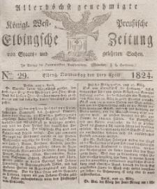 Elbingsche Zeitung, No. 29 Donnerstag, 8 April 1824