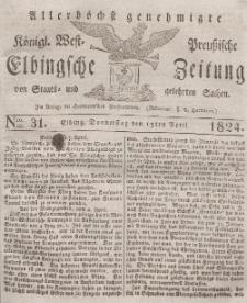Elbingsche Zeitung, No. 31 Donnerstag, 15 April 1824