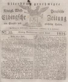 Elbingsche Zeitung, No. 32 Montag, 19 April 1824