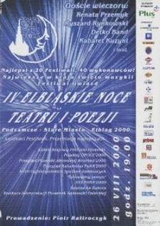 IV Elbląskie Noce Teatru i Poezji