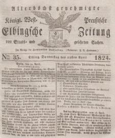 Elbingsche Zeitung, No. 35 Donnerstag, 29 April 1824