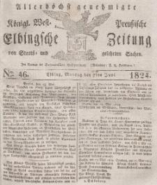 Elbingsche Zeitung, No. 46 Montag, 7 Juni 1824