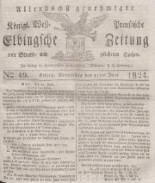 Elbingsche Zeitung, No. 49 Donnerstag, 17 Juni 1824