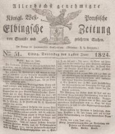 Elbingsche Zeitung, No. 51 Donnerstag, 24 Juni 1824