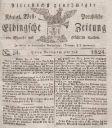 Elbingsche Zeitung, No. 54 Montag, 5 Juli 1824