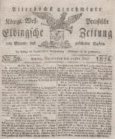 Elbingsche Zeitung, No. 59 Donnerstag, 22 Juli 1824